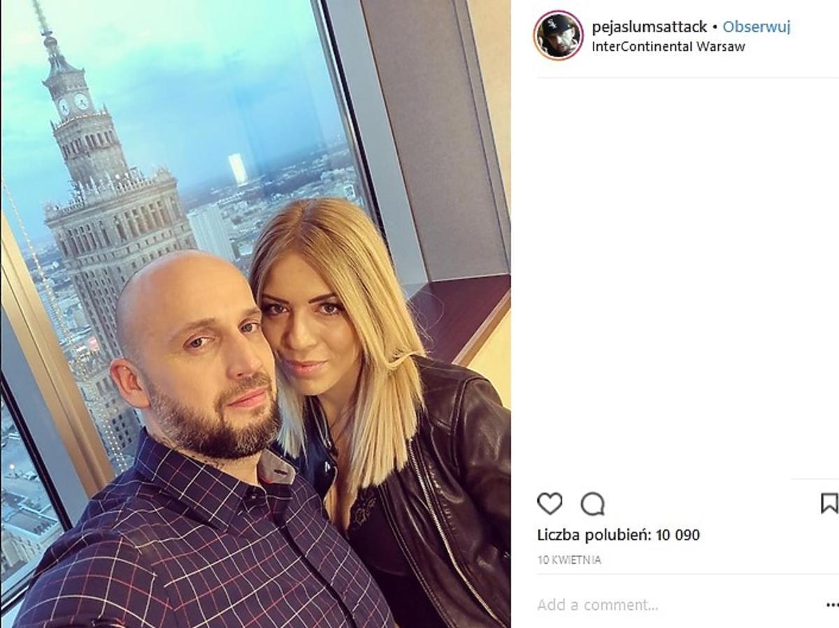 Peja z żoną Pauliną