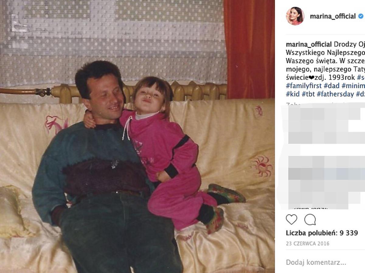 Marina Łuczenko z ojcem