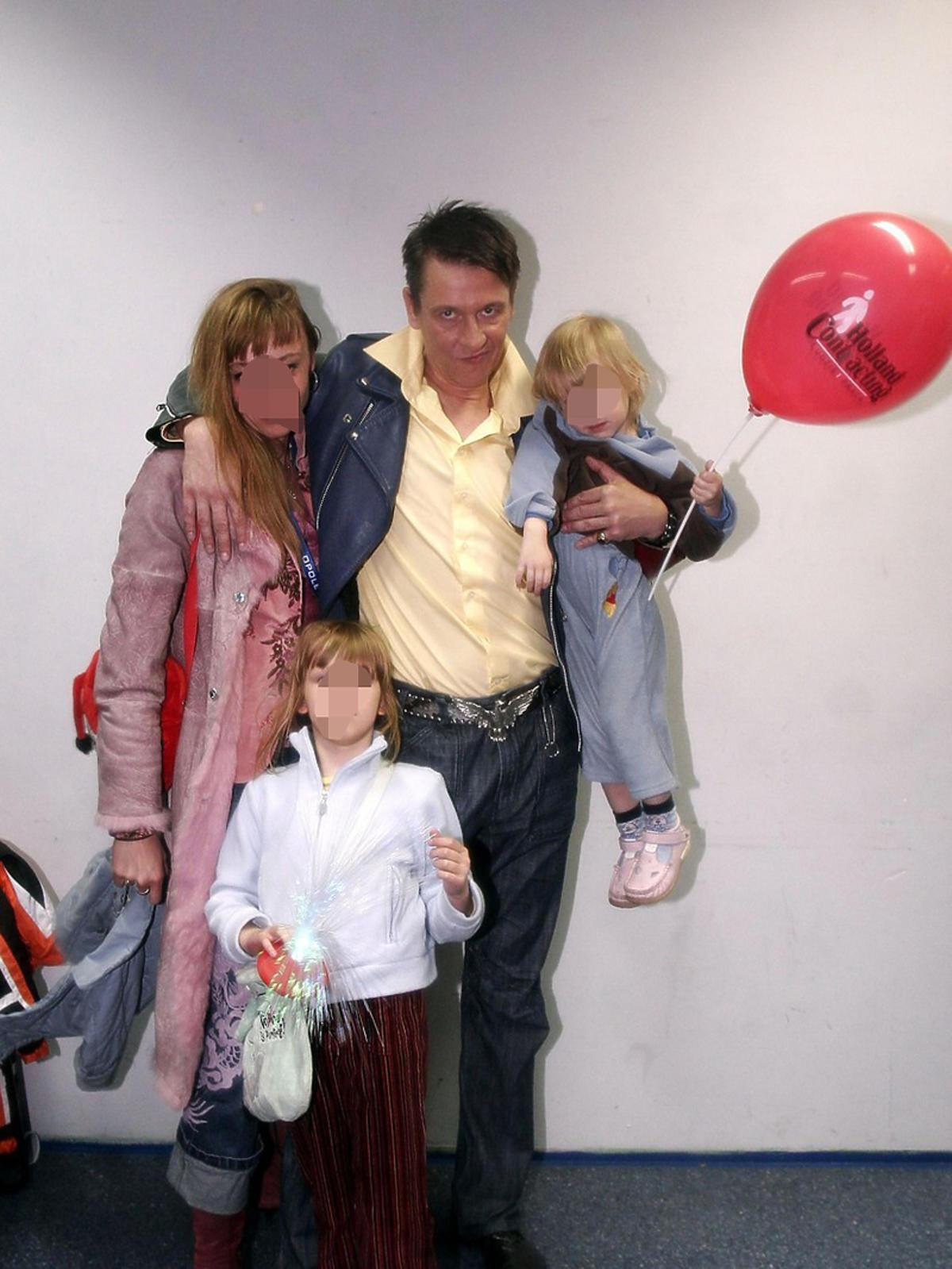 Maciej Maleńczuk z rodziną