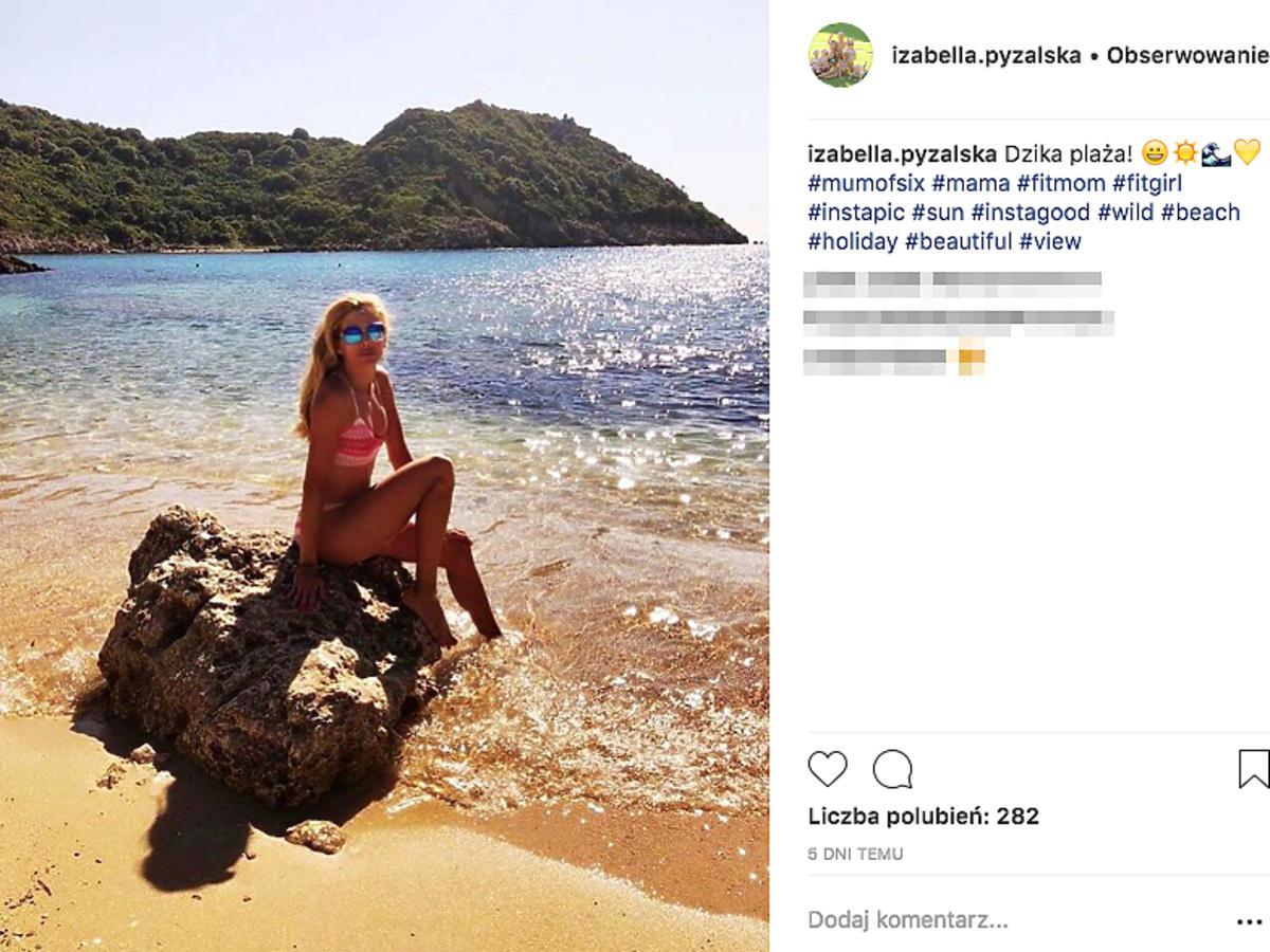 Izabella Łukomska-Pyżalska w bikini