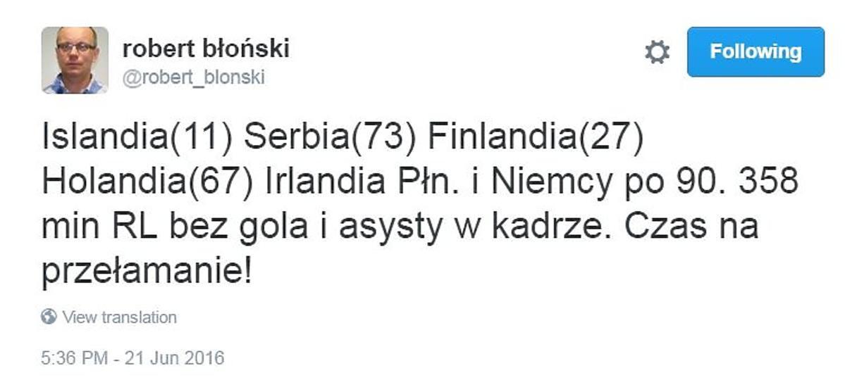 358 minut Roberta Lewandowskiego bez gola w reprezentacji Polski relacja na żywo Polska - Ukraina