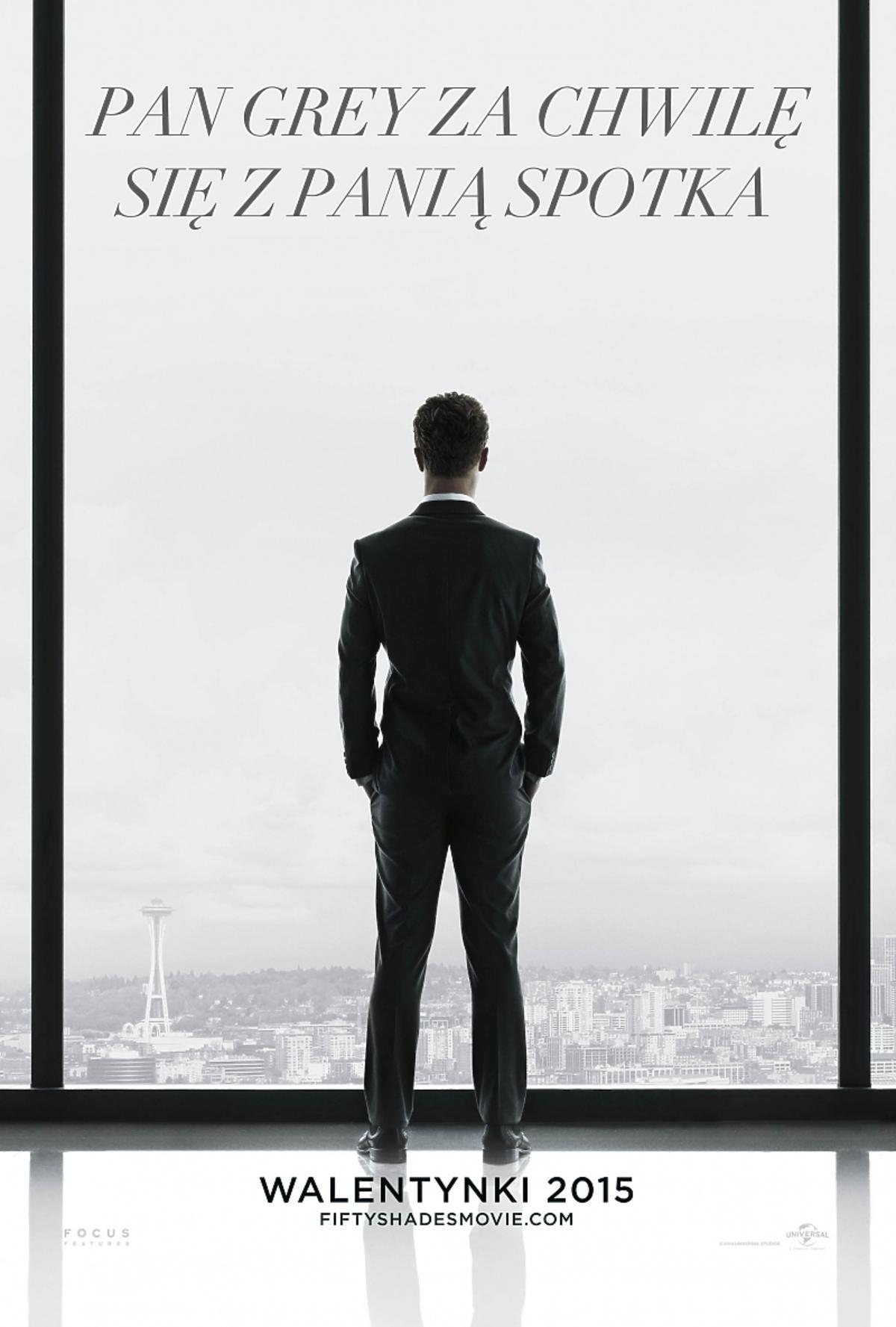 50 Twarzy Greya polski plakat