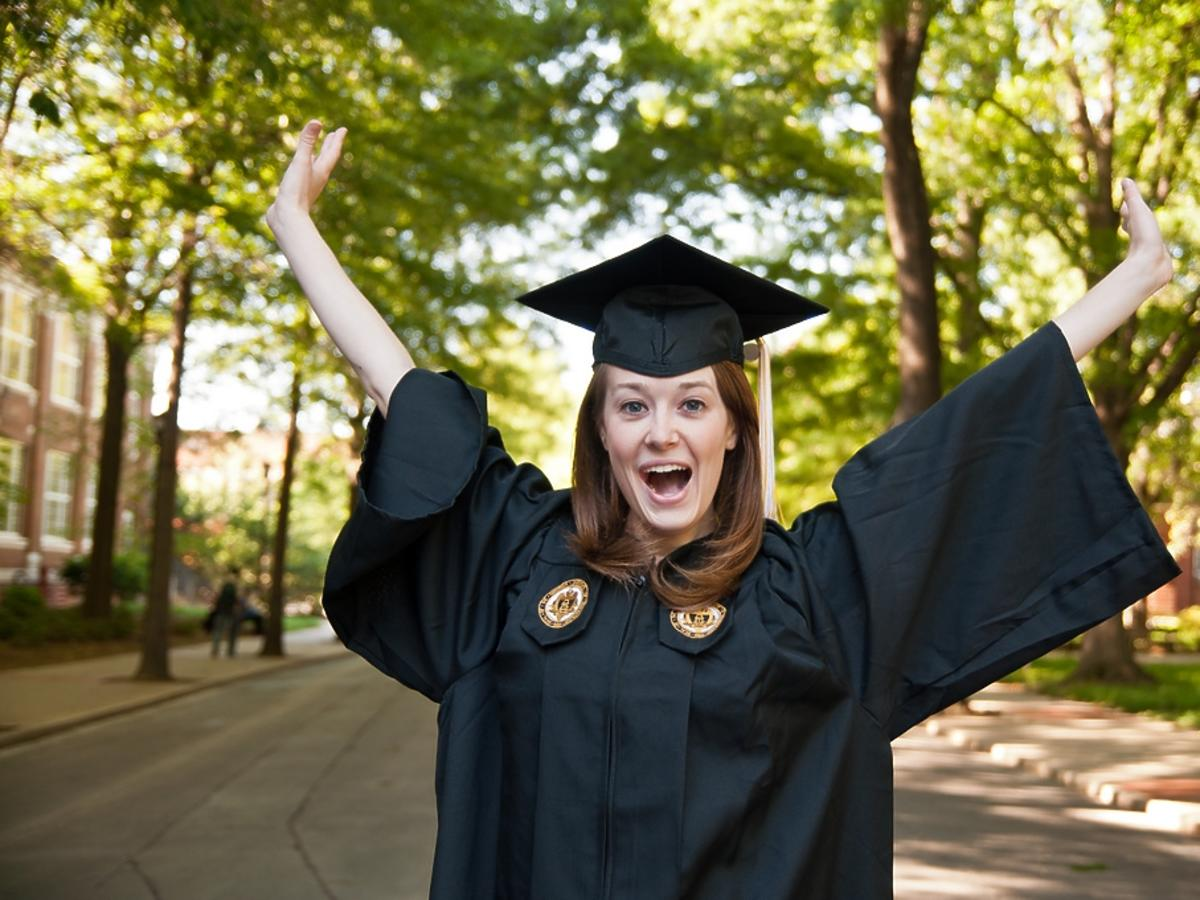 Absolwentka wyższej uczelni