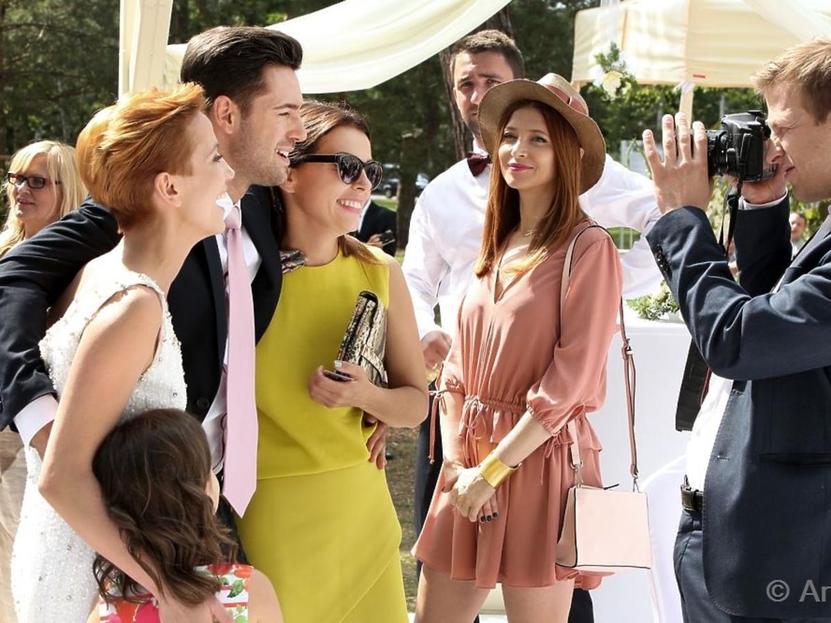 Ada Fijał na planie serialu Barwy Szczęścia w serialu Barwy Szczęścia