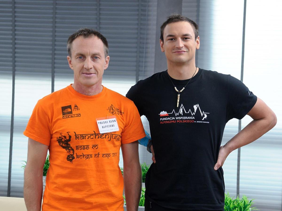 Adam Bielecki i Denis Urubko w DDTVN
