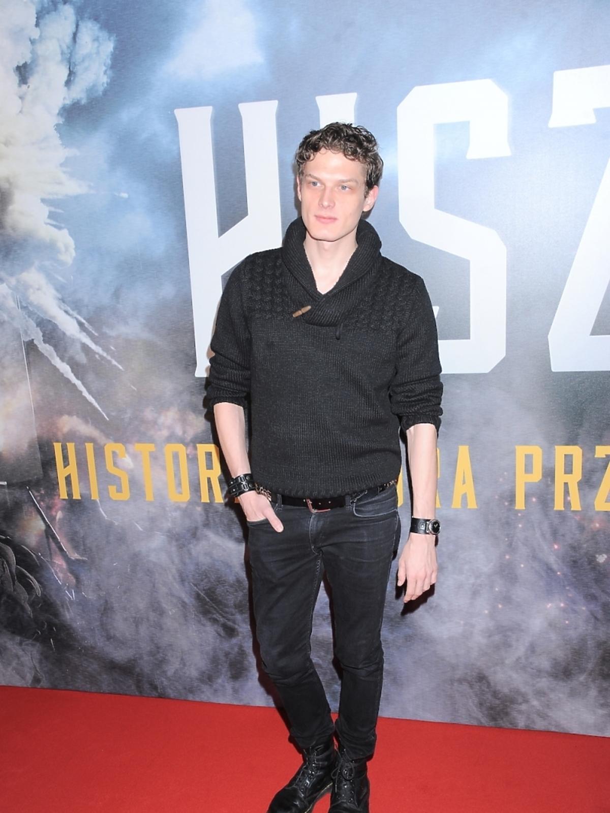 Adam Fidusiewicz na premierze filmu