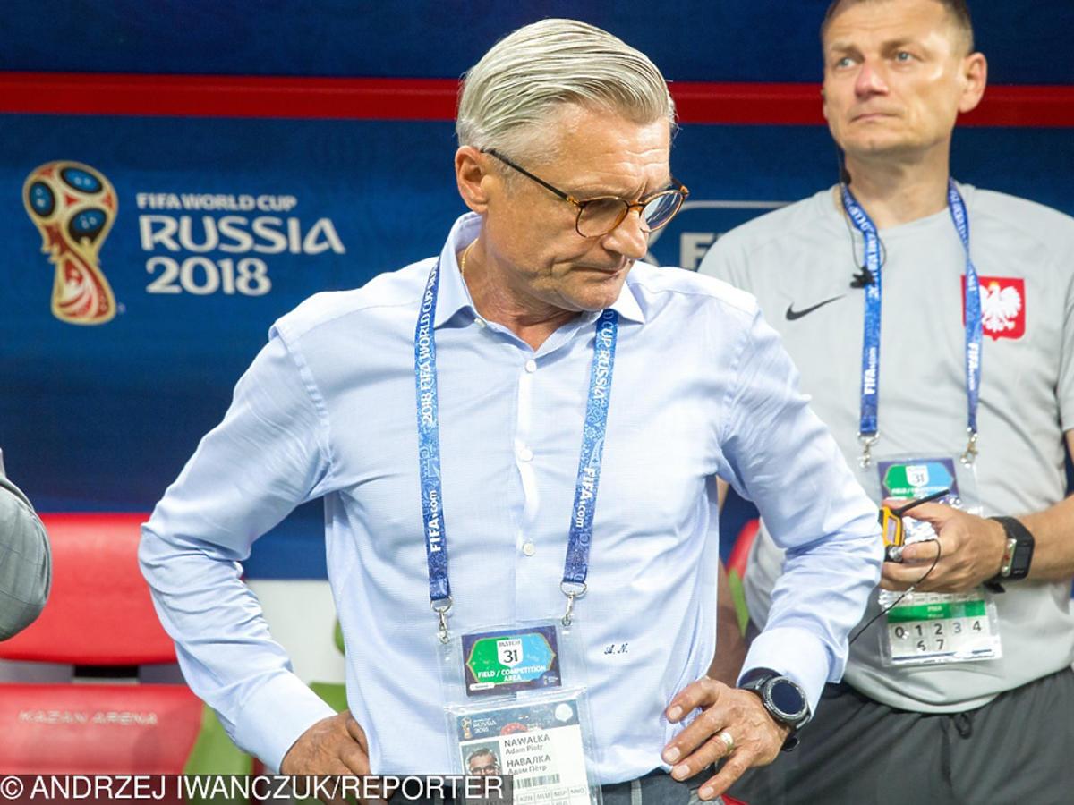 Adam Nawałka podczas meczu Polska-Kolumbia