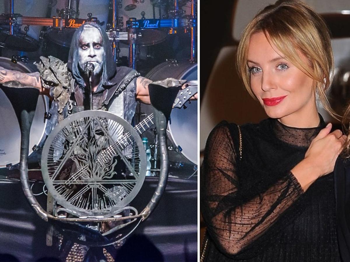 Adam Nergal Darski z zespołu Behemoth, Agnieszka Szulim i Piotr Woźniak-Starak