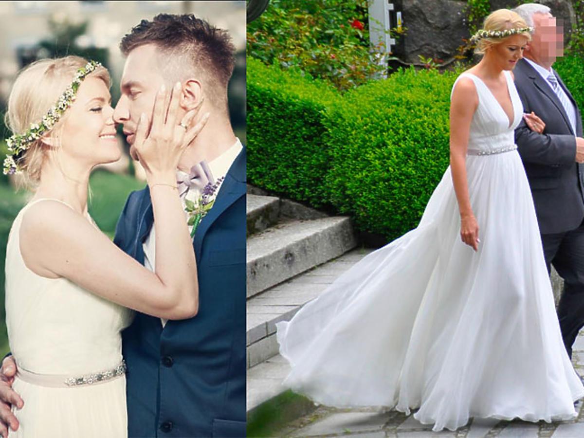 Adam Sztaba i Agnieszka Dranikowska wzięli ślub zdjęcia