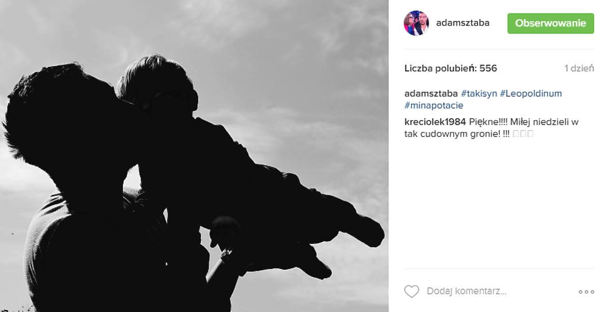 Adam Sztaba pokazał zdjęcie z synkiem