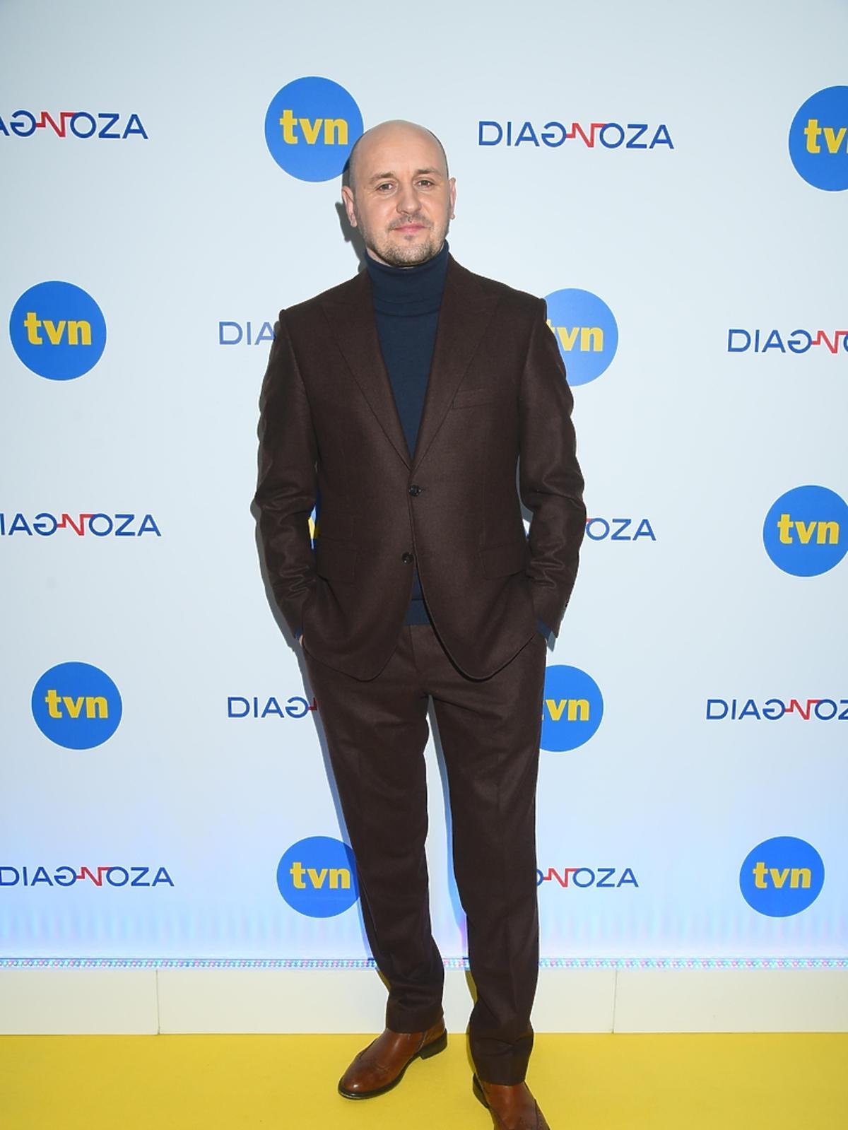 Adam Woronowicz na konferencji prasowej serialu