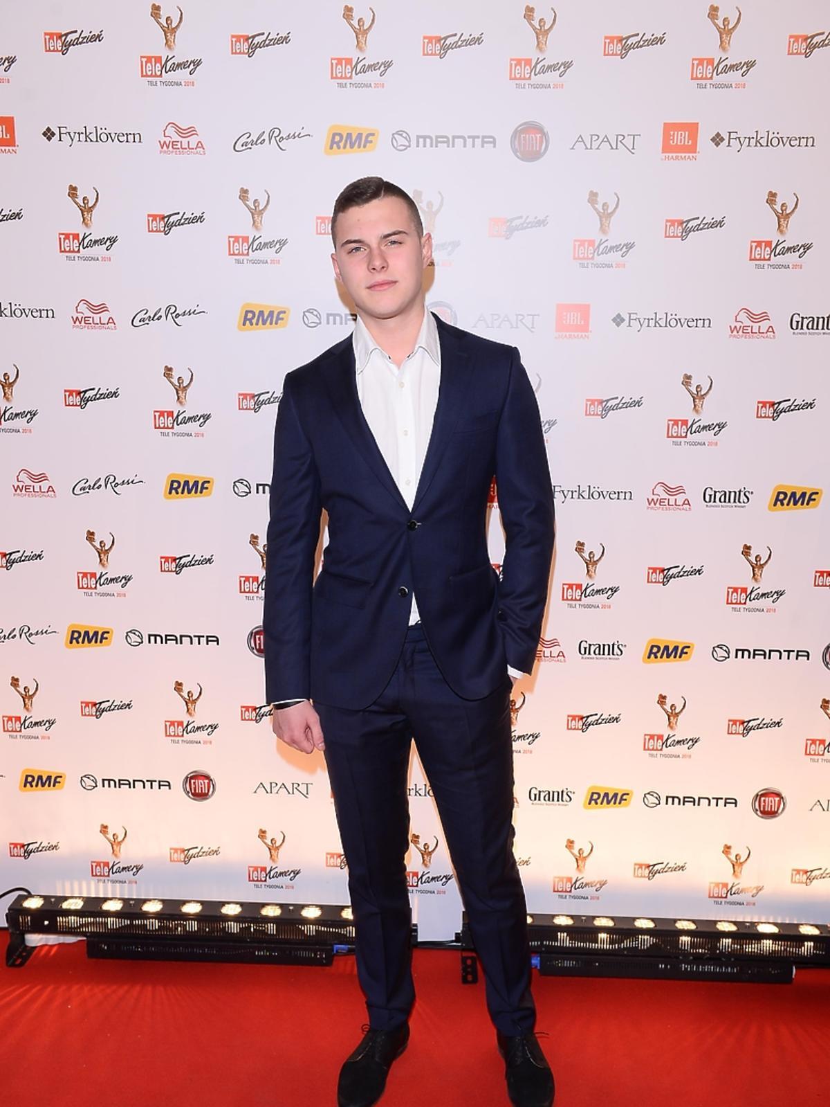 Adam Zdrójkowski na rozdaniu Telekamer 2018