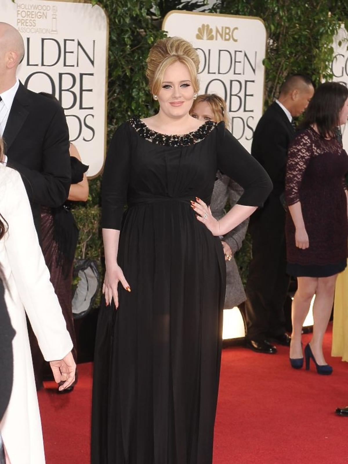 Adele na wręczeniu Złotych Globów 2013