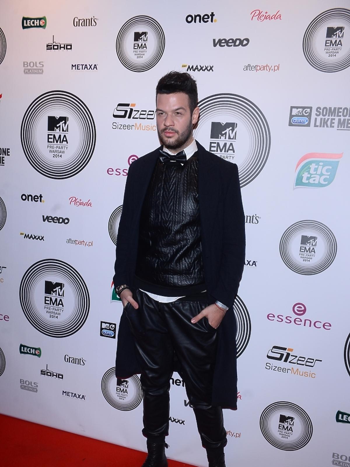 Adi Kowalski na MTV EMA Pre-Party 2014