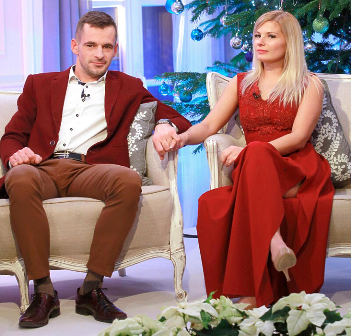 Adrian i Ilona z Rolnik szuka żony 6 na nagraniu świątecznego odcinka