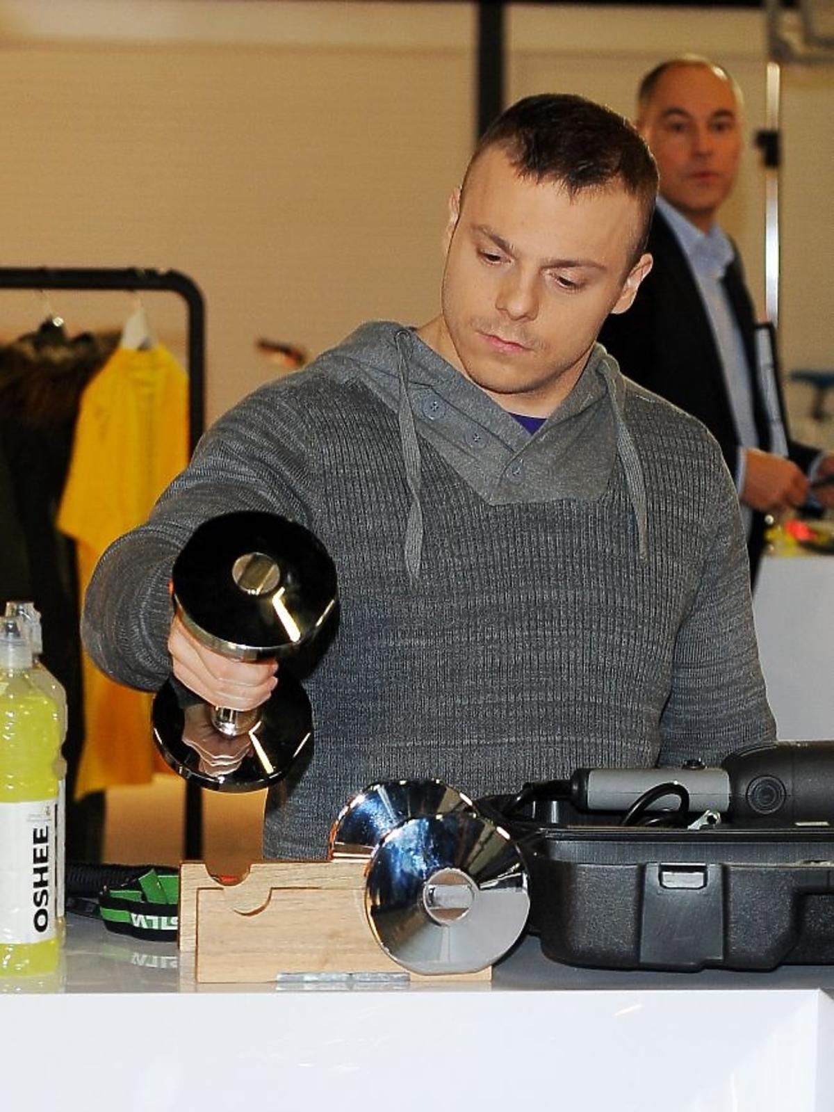 Adrian Zieliński podczas obrad jury plebiscytu Męska Rzecz 2012