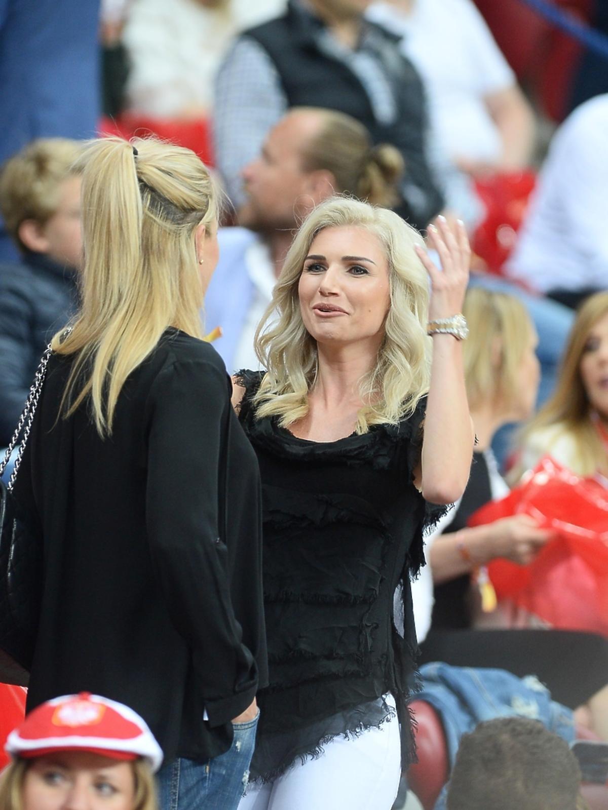 Agata Błaszczykowska na meczu Polska Rumunia
