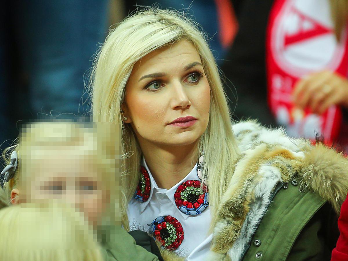 Agata Błaszczykowska z córką na meczu