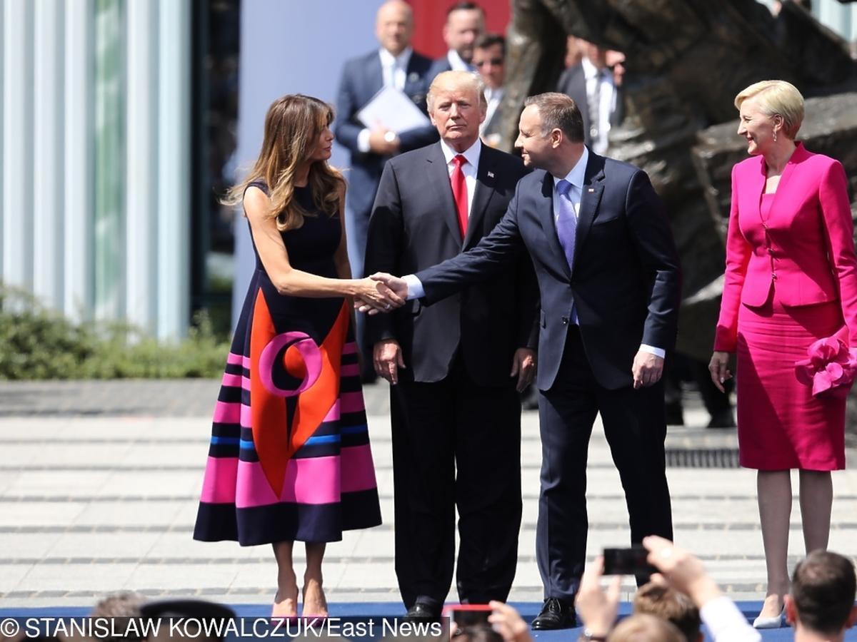 Agata Duda, Andrzej Duda, Melania Trump, Donald Trump
