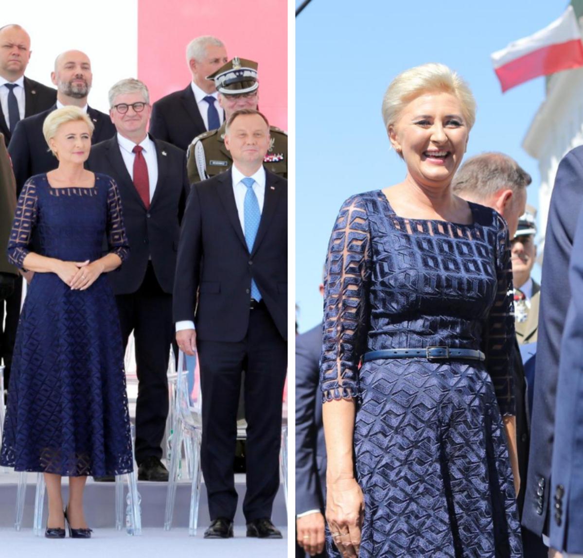 Agata Duda i Andrzej Duda na uroczystościach z okazji Święta Wojska Polskiego