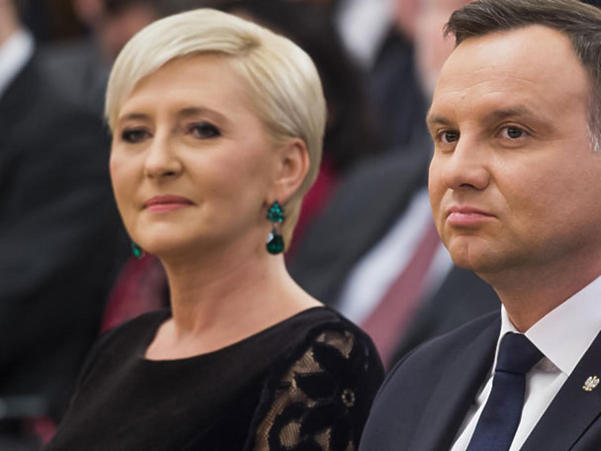 Agata Duda i Andrzej Duda w Berlinie podczas oficjalnej podróży