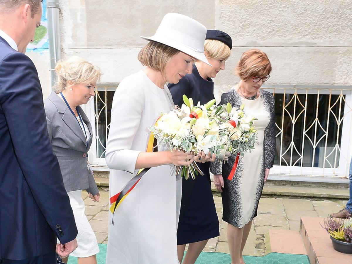Agata Duda i królowa Matylda w szkole