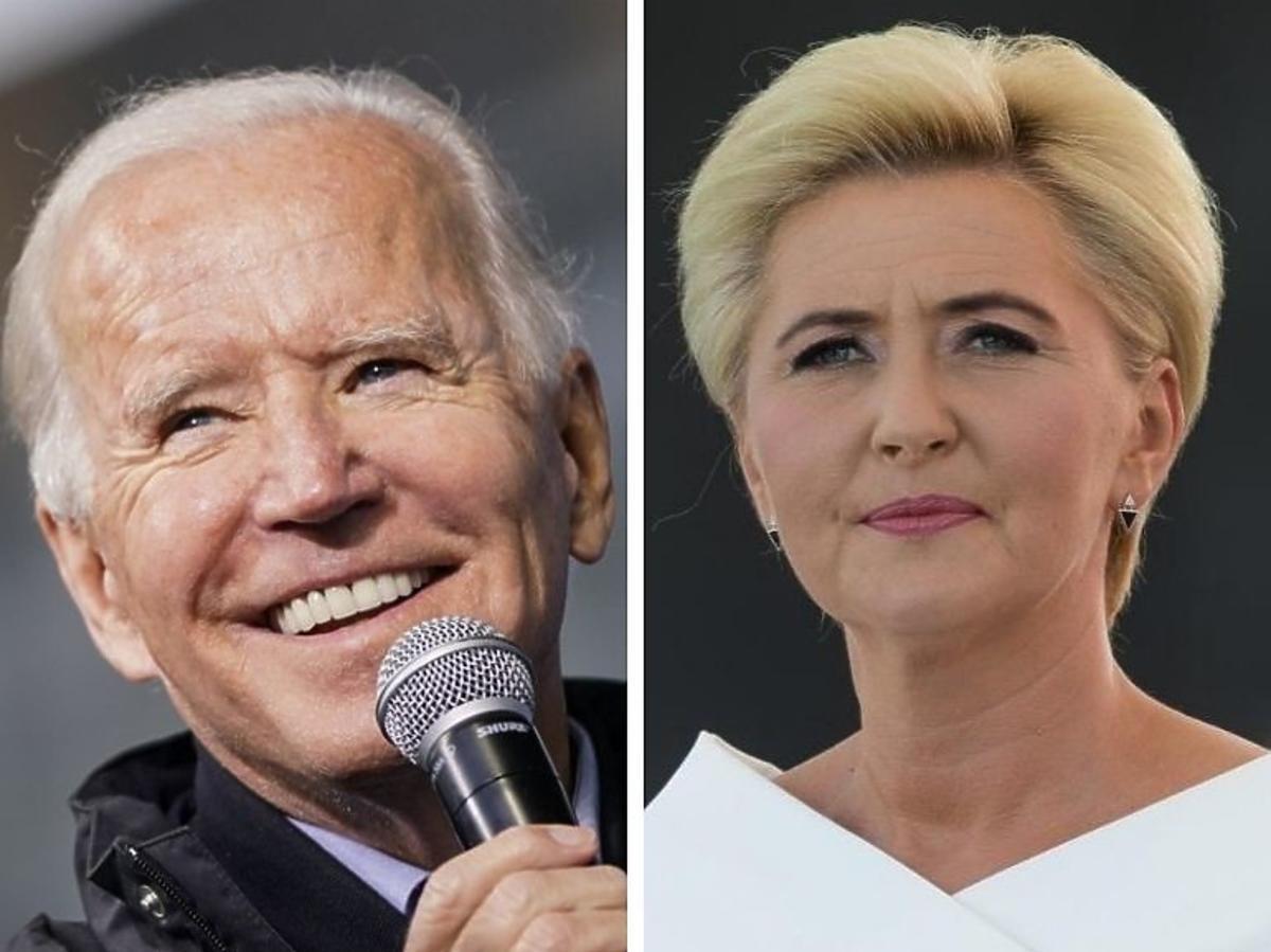 Agata Duda Joe Biden