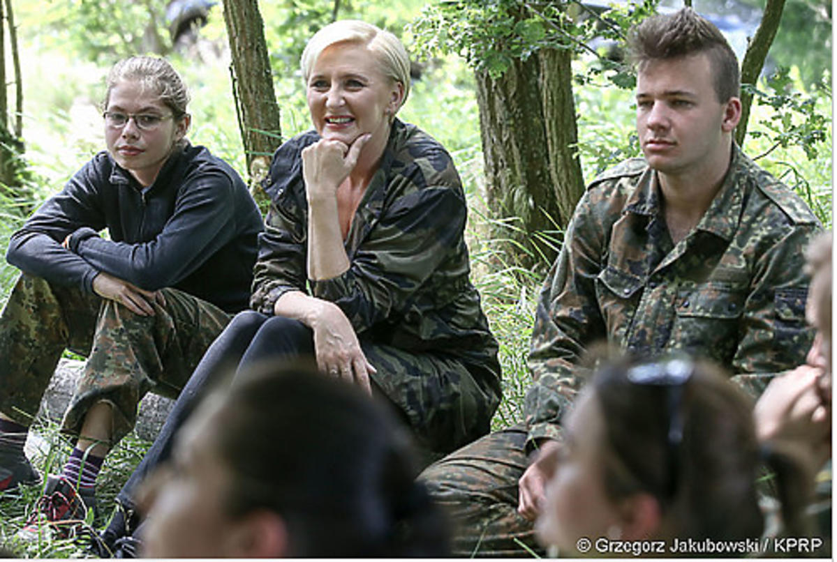 Agata Duda na obozie Onko-Survivalu