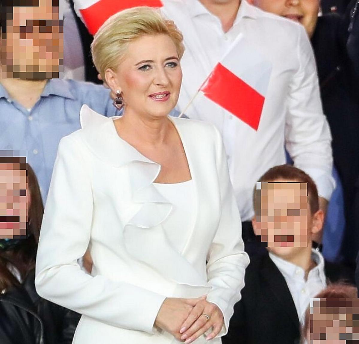 Agata Duda na wieczorze wyborczym