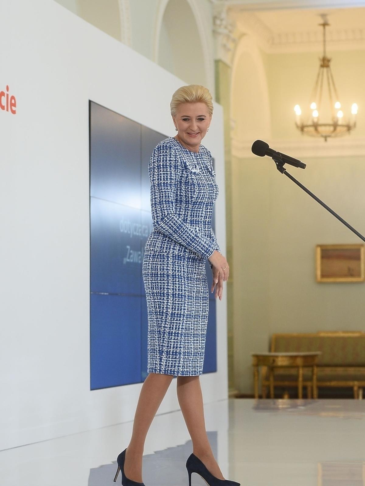 Agata Duda wzięła udział w debacie