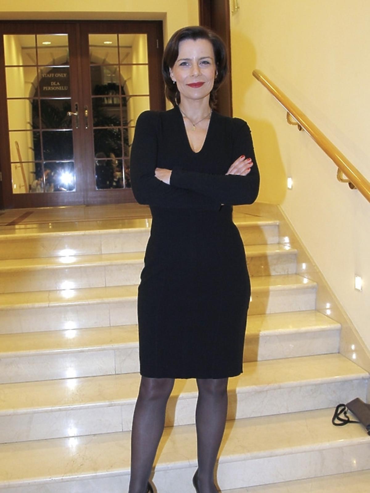 Agata Kulesz na rozdaniu Feliksów Warszawskich