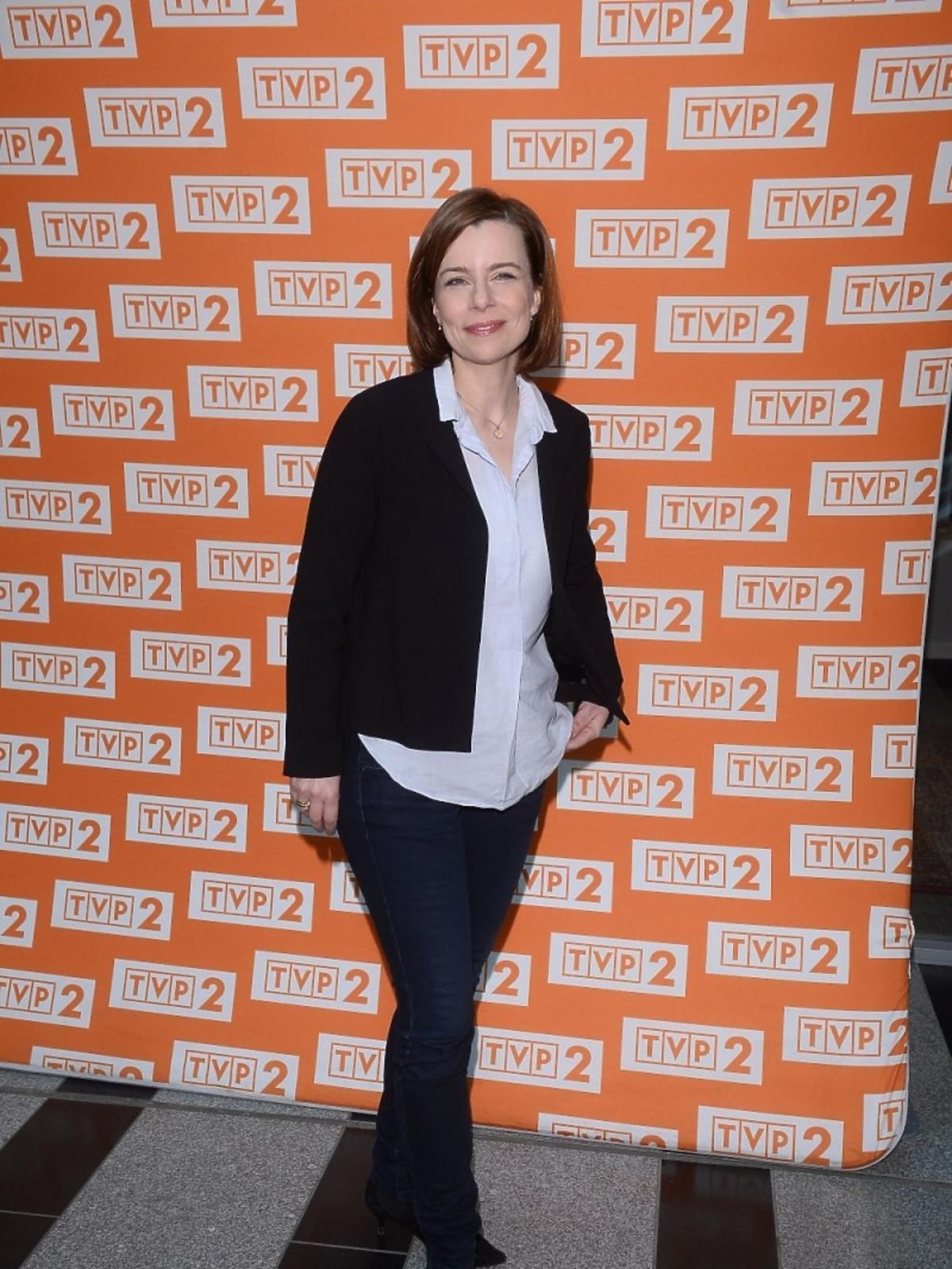 Agata Kulesza na konferencji serialu