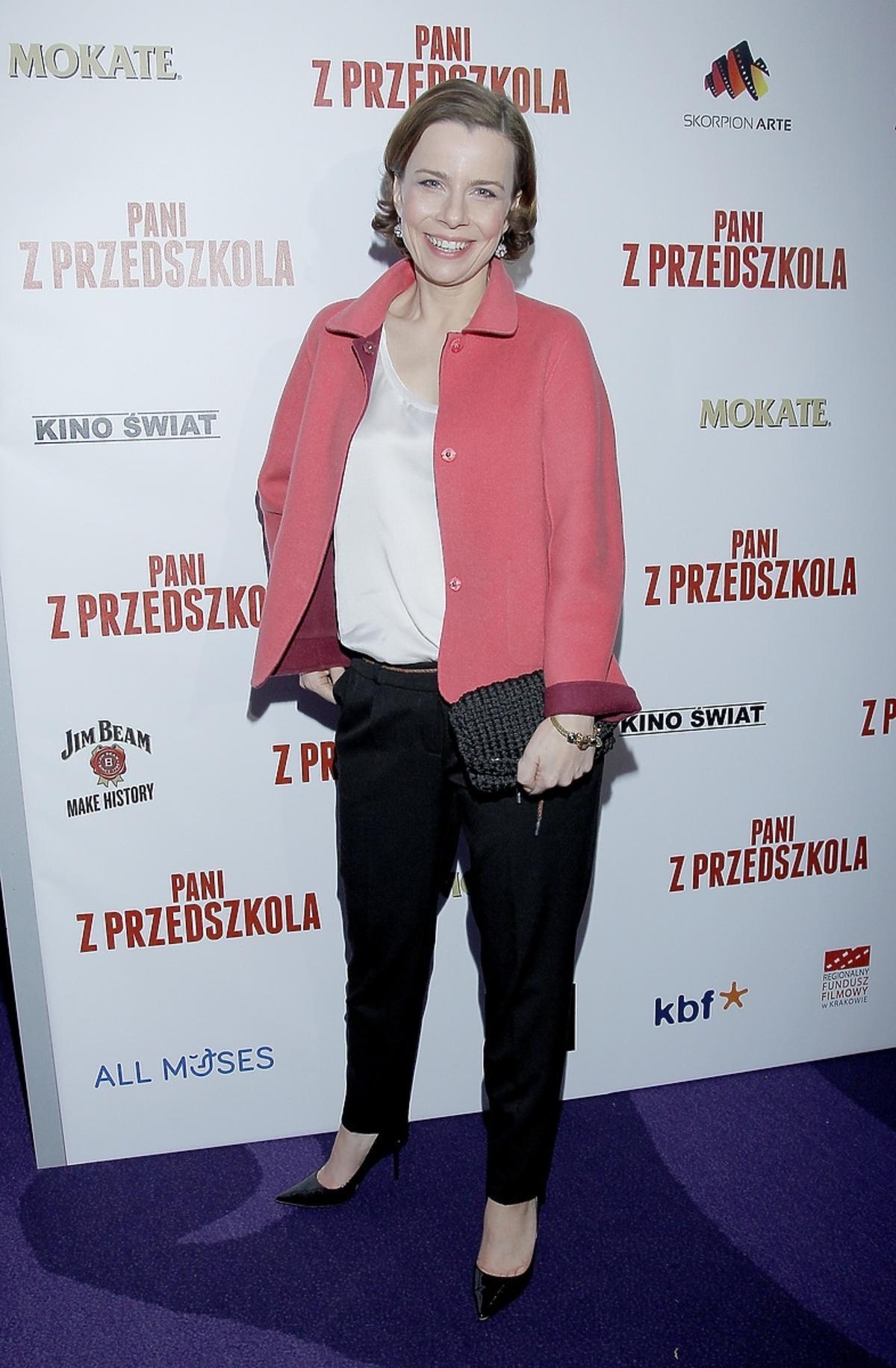 Agata Kulesza na premierze filmu