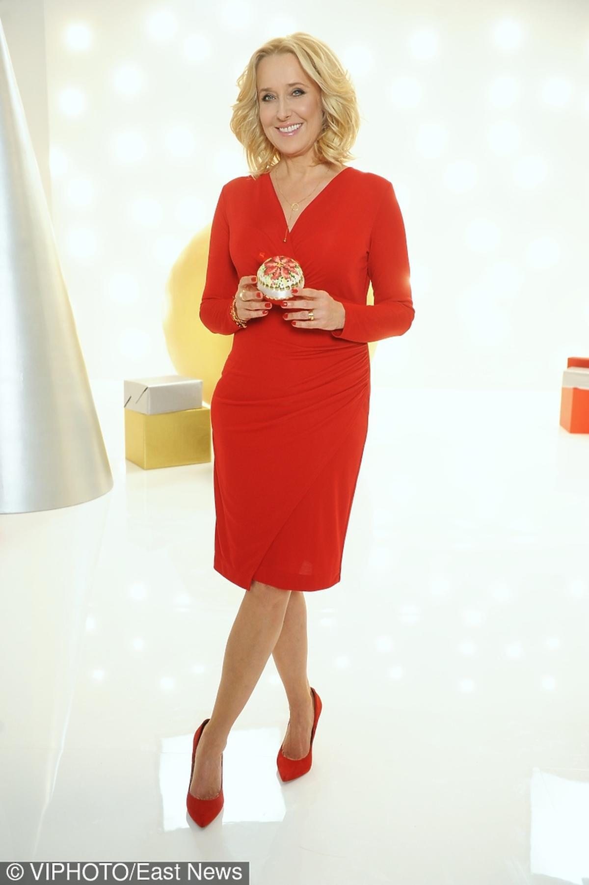 Agata Młynarska na nagraniu świątecznego programu w stacji TLC