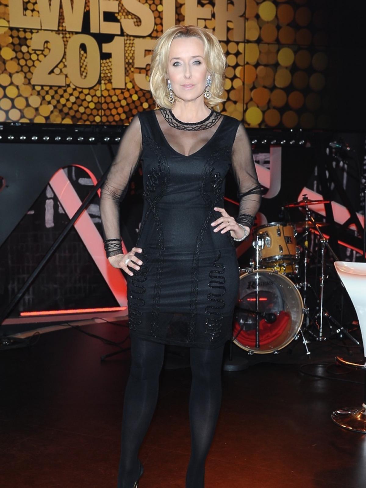Agata Młynarska na nagraniu sylwestrowego programu