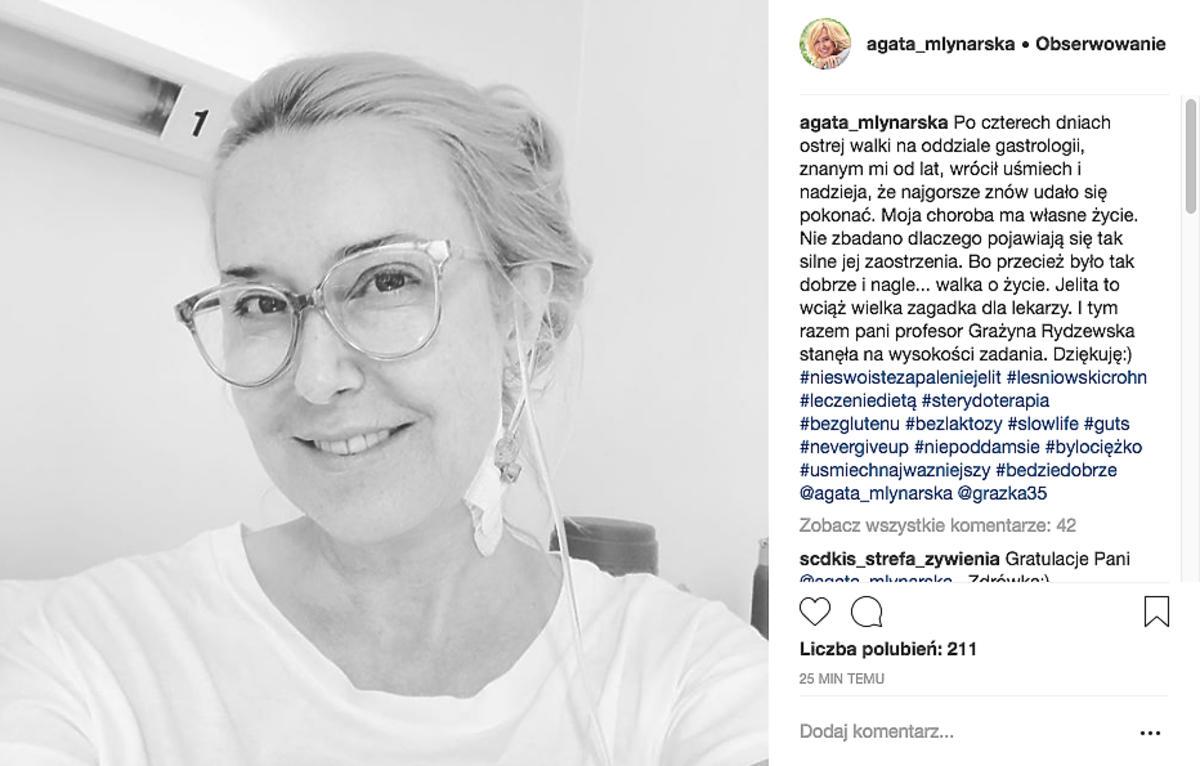 Agata Młynarska o chorobie