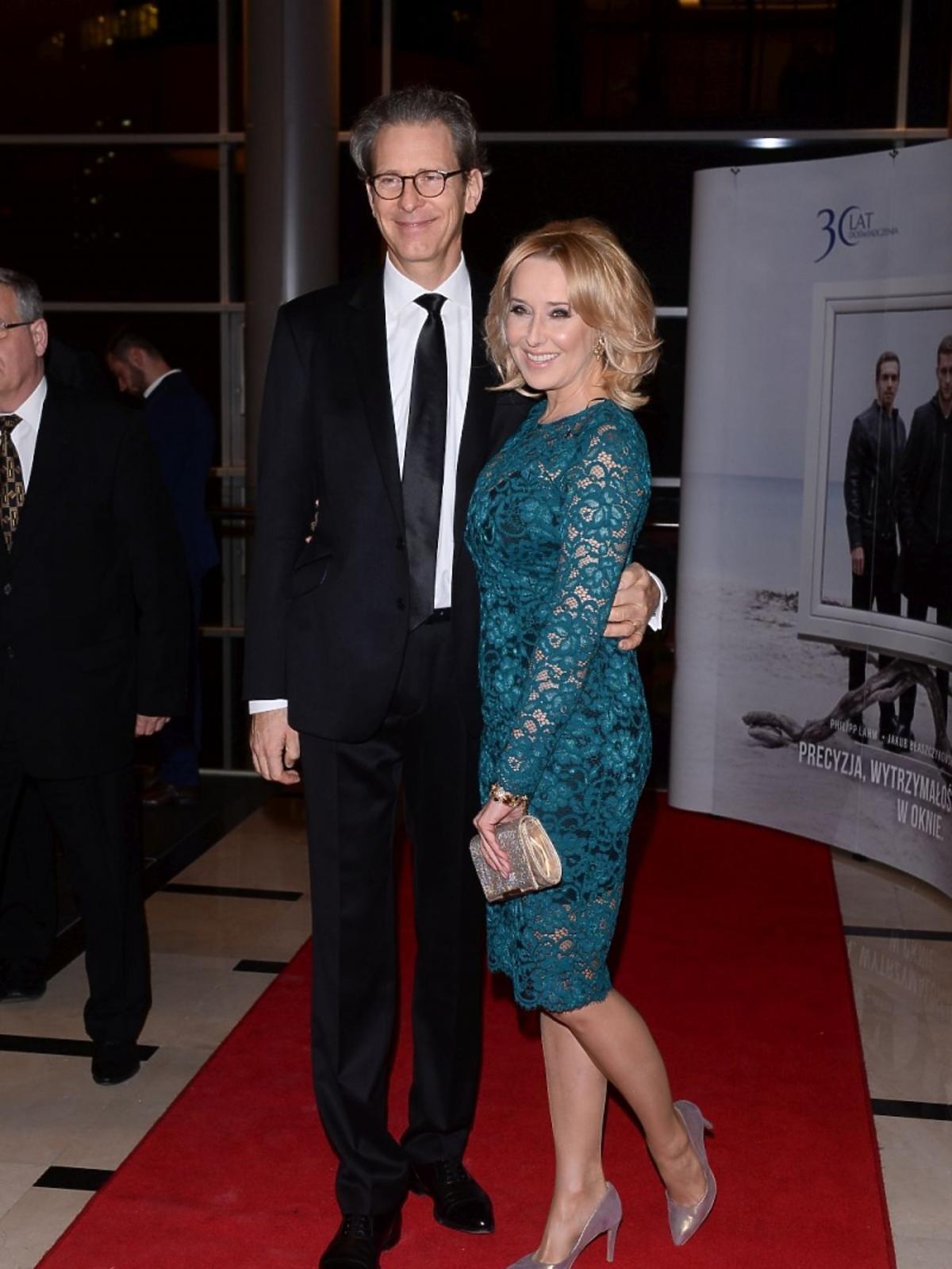 Agata Młynarska z mężem na gali tygodnika