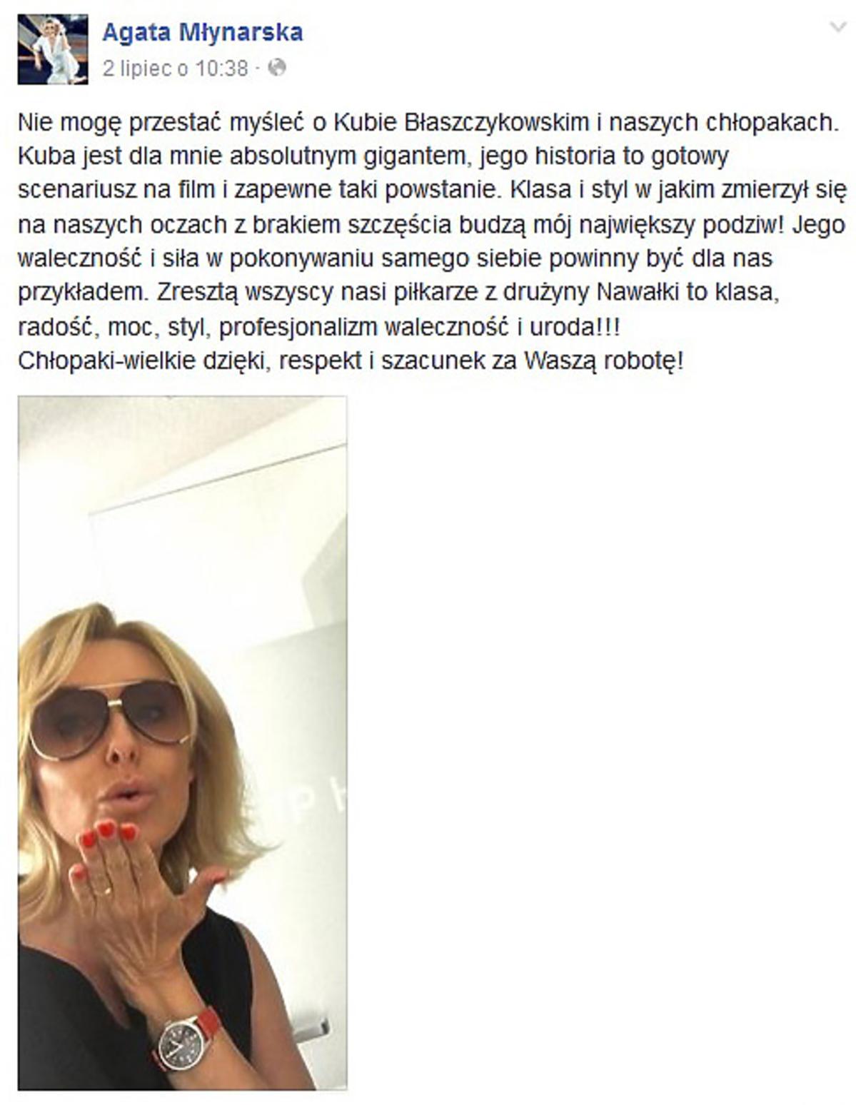 Agata Młynarska zachwycona Kubą Błaszczykowskim