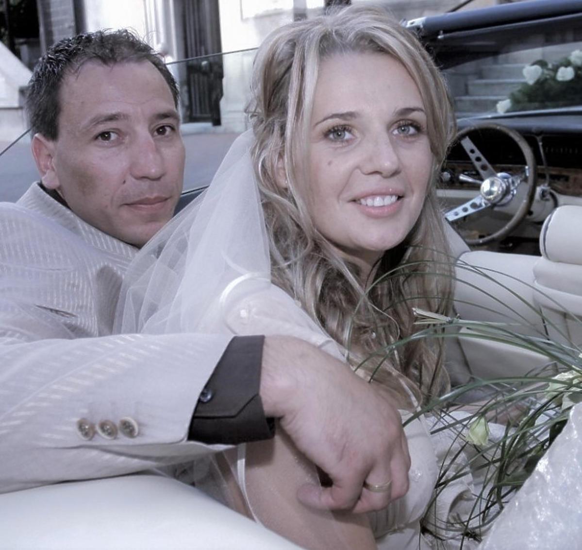 Agata Mróz z mężem, zdjęcie ślubne