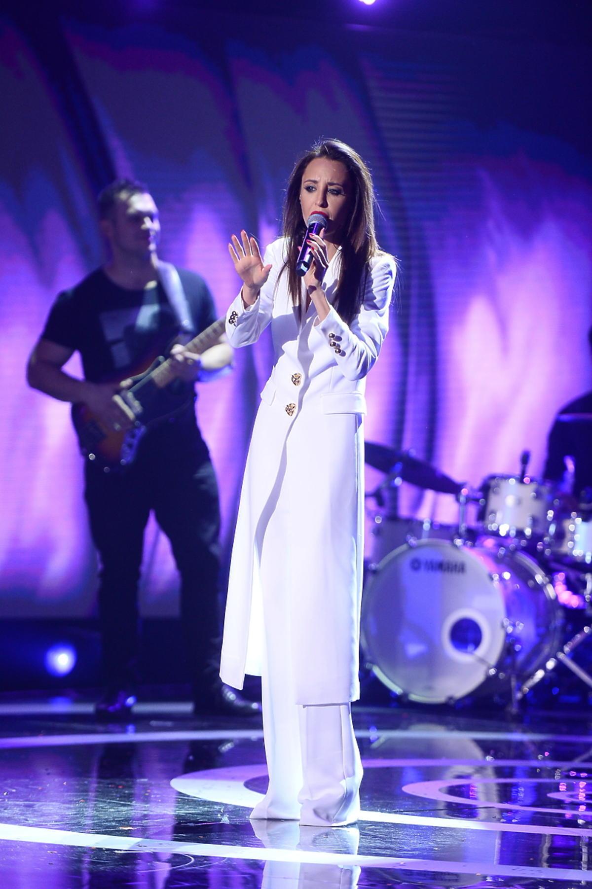 Agata Nizińska podczas polskich preselekcji do Eurowizji