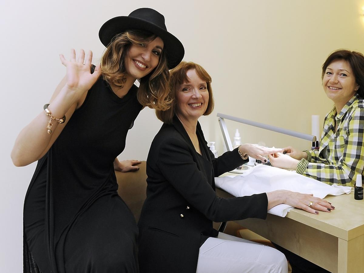 Agata Nizińska z mamą