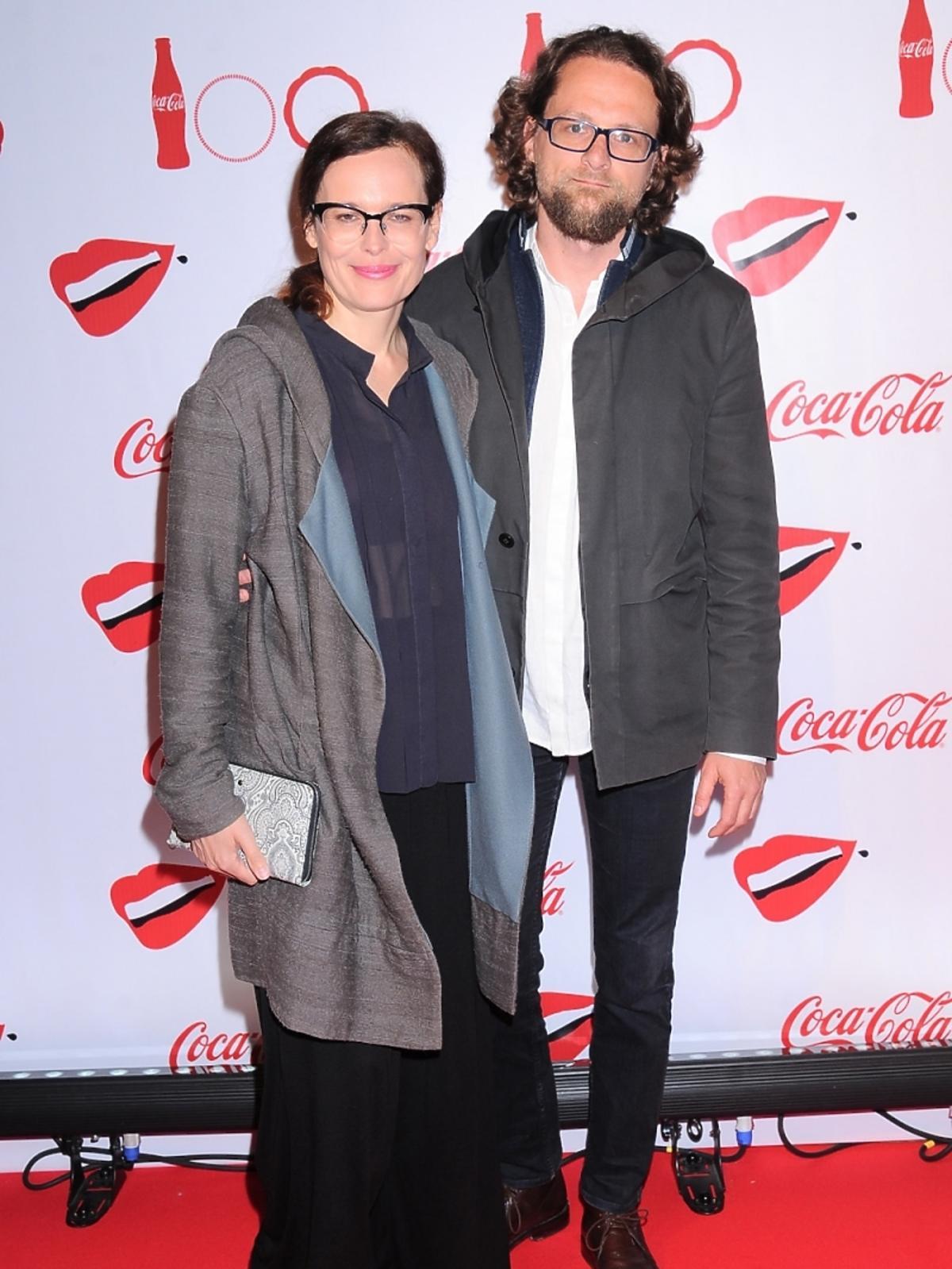 Agata Passent z partnerem na imprezie Coca-Coli