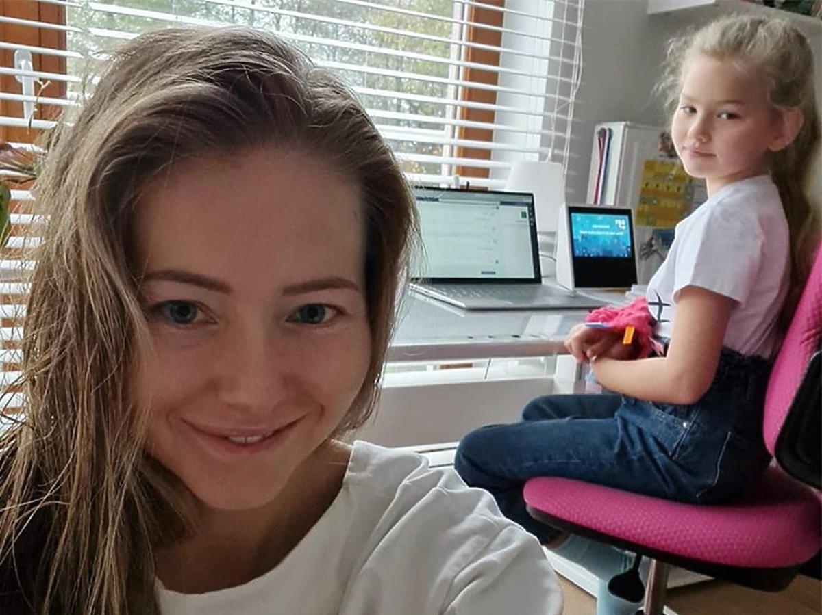 Agata Rubik o nauce zdalnej córek
