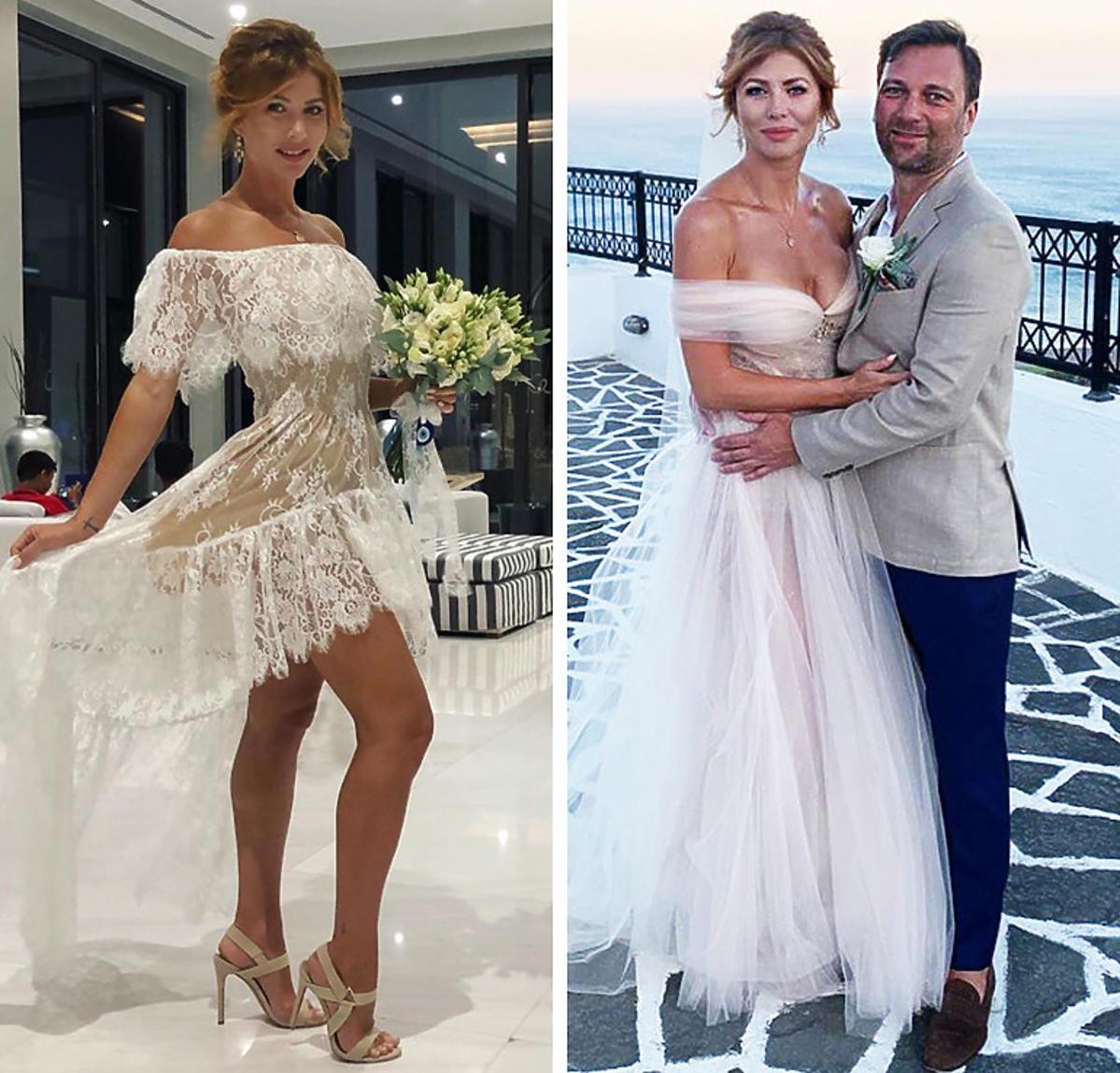 Agata Załęcka w dwóchAgata Załęcka w dwóch sukniach ślubnych sukniach ślubnych