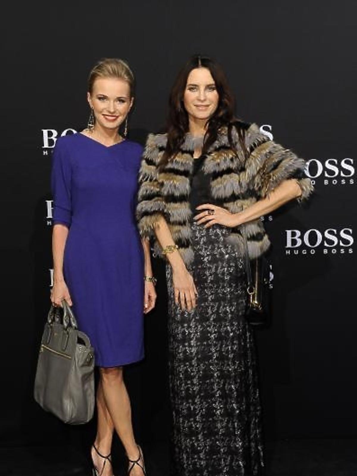 Agnieszka Cegielska i Joanna Horodyńska podczas BOSS Fashion Event w Galerii Mokotów