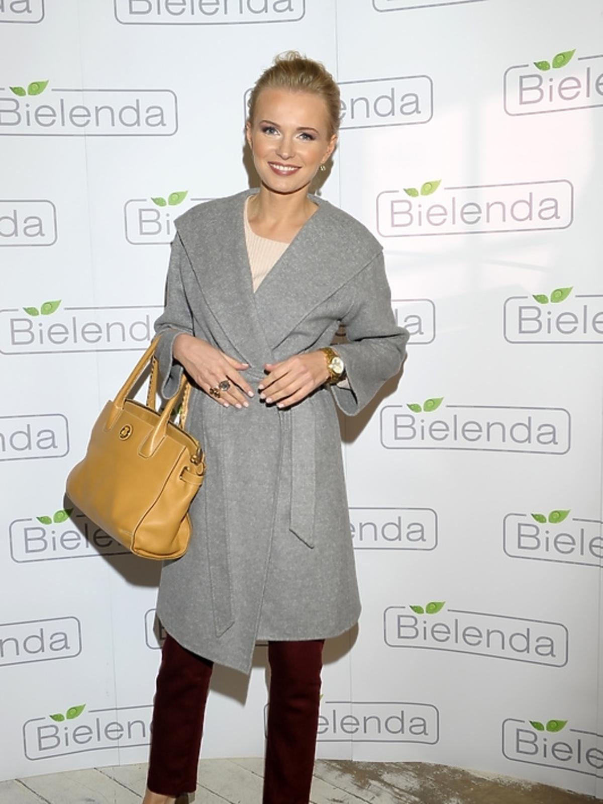 Agnieszka Cegielska na prezentacji kosmetyków marki Bielenda