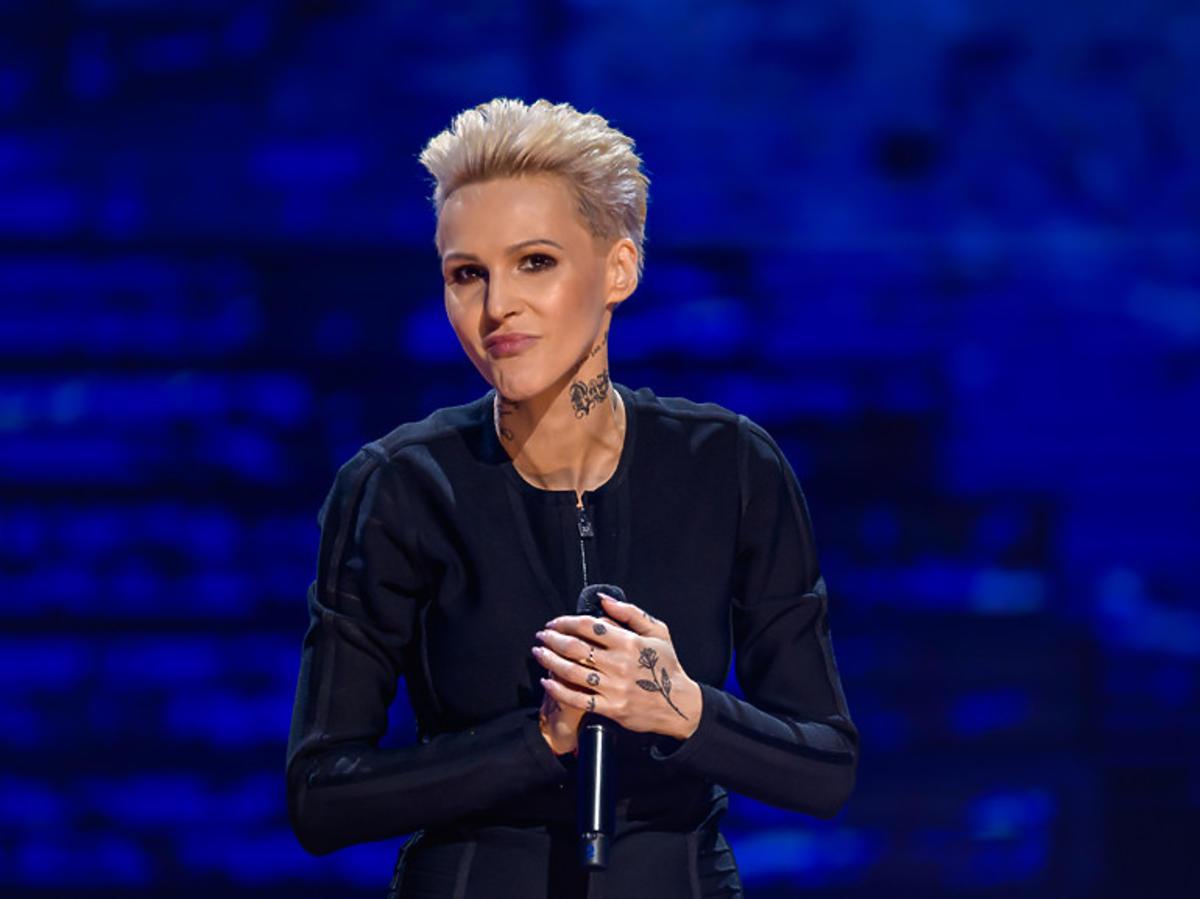 Agnieszka Chylińska na festiwalu w Sopocie