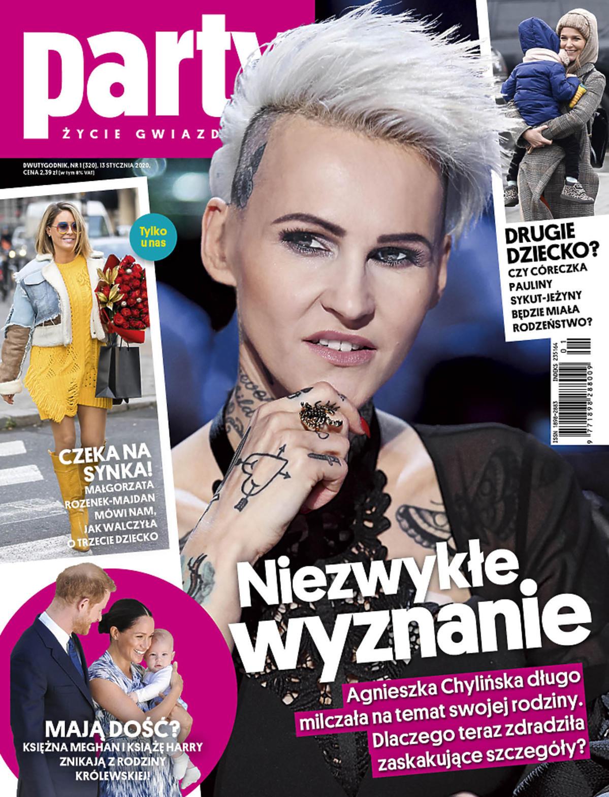 Agnieszka Chylińska na okładce Party