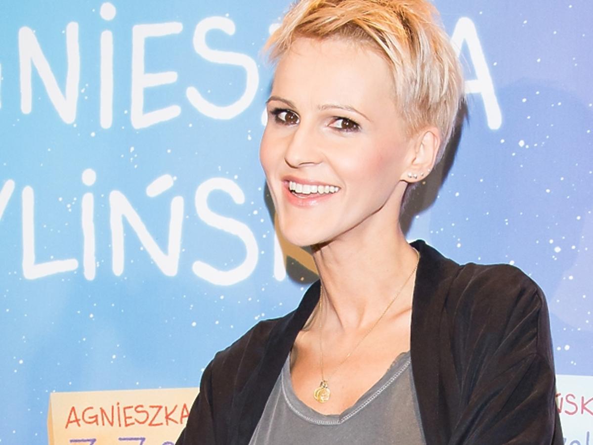 Agnieszka Chylińska w koszulce
