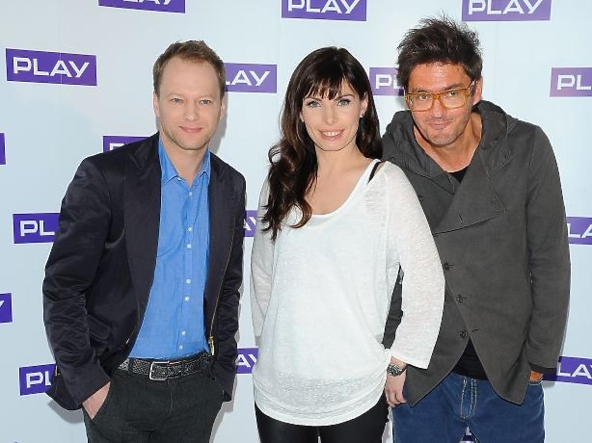 Agnieszka Dygant, Maciej Sthur i Kuba Wojewódzki na konferencji prasowej Play
